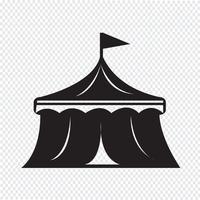 segno di simbolo dell'icona del circo