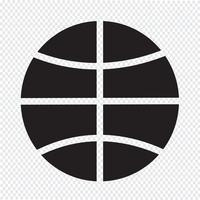 segno di simbolo dell'icona di pallacanestro