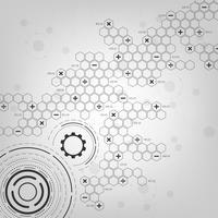 Sfondo nel concetto di tecnologia e scienza. vettore