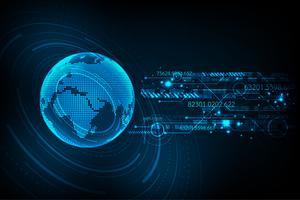 Il digitale sta arrivando a giocare un ruolo importante nell'era moderna. vettore