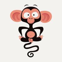 Divertente personaggio scimmia vettoriale