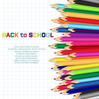 Di nuovo alla scuola, priorità bassa di concetto di formazione con le matite di colore sveglio