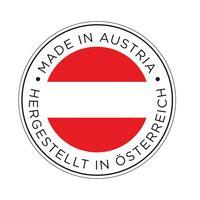 realizzato nell'icona della bandiera austria. vettore