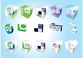 Icone dei segnalibri sociali