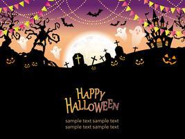 Illustrazione vettoriale di felice Halloween senza soluzione di continuità.