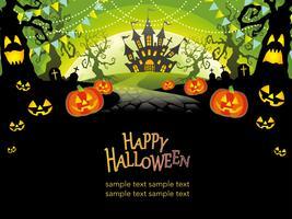 Felice illustrazione vettoriale di Halloween con lo spazio del testo.
