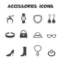 simbolo di icone di accessori vettore