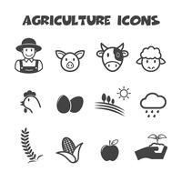 simbolo di icone di agricoltura vettore