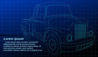Profilo del veicolo sulla priorità bassa della cianografia.