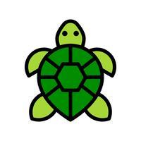Vettore della tartaruga, icona di stile riempita relativa tropicale