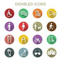 disabilitato icone lunga ombra