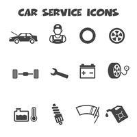 icone di servizio auto vettore