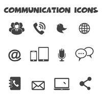 simbolo di icone di comunicazione vettore