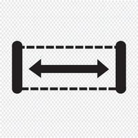 Illustrazione di disegno dell'icona di larghezza vettore