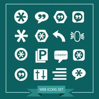Set di icone web per sito Web e comunicazione vettore