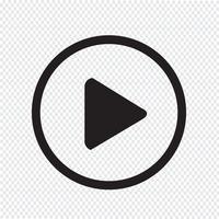 illustrazione di progettazione dell'icona del tasto di riproduzione vettore