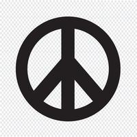 illustrazione dell'icona simbolo pace hippie vettore