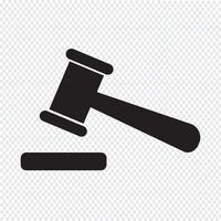 illustrazione dell'icona dell'icona dell'asta vettore