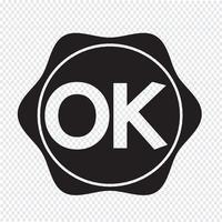 OK segno simbolo del pulsante vettore