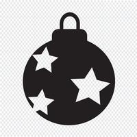 Illustrazione di disegno dell'icona della sfera di natale