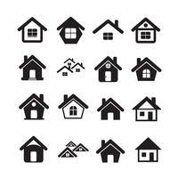 House Icon Real estate Set per sito Web vettore