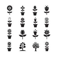 Flower Icon Set per il sito Web vettore
