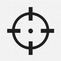 Illustrazione dell'icona dell'icona dell'obiettivo vettore