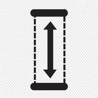 Illustrazione di disegno dell'icona di altezza vettore