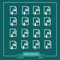 Set di icone formato file vettore