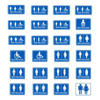 Insieme dell'icona del segno di toilette vettore