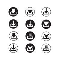 set di icone segno di freccia vettore