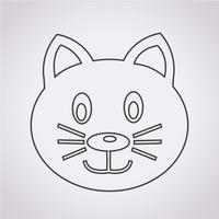 Segno di simbolo dell'icona di gatto