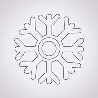 segno di simbolo dell'icona del fiocco di neve