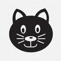Segno di simbolo dell'icona di gatto vettore