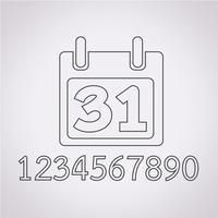 Icona calendario segno simbolo