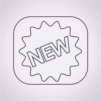 Nuovo segno simbolo icona vettore
