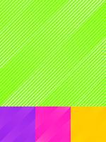 L'insieme delle linee diagonali a strisce modella il fondo e la struttura luminosi variopinti di colore.