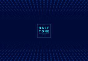Estratto del fondo blu scuro di concetto di progetto del semitono del punto luminoso con spazio fot testo. vettore