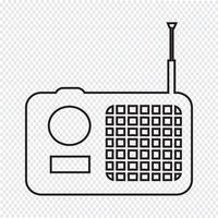 segno di icona radio vettore