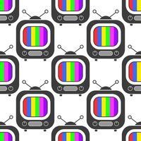 Icona Tv in linea stile sfondo modello senza soluzione di continuità. Illustrazione vettoriale piana di affari Segno della televisione