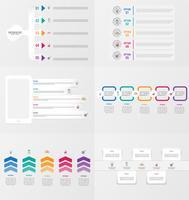 Set di modello di elemento di infografica con opzioni. vettore