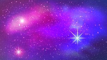 Nebulosa colorato sullo sfondo dello spazio. Illustrazione vettoriale