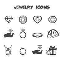 simbolo di icone di gioielli vettore