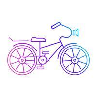Icona della bicicletta. Pronto per il tuo disegno, cartolina d'auguri vettore