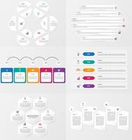 Set di modello di elemento di infografica con opzioni.