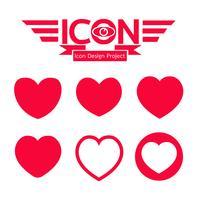 segno di simbolo dell'icona del cuore vettore