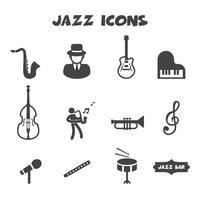 simbolo di icone di jazz vettore