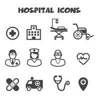 simbolo di icone di ospedale vettore