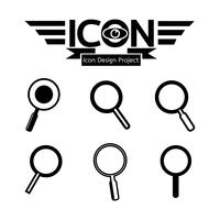 Cerca il simbolo simbolo dell'icona vettore