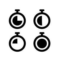 Segno di simbolo dell'icona dell'orologio vettore